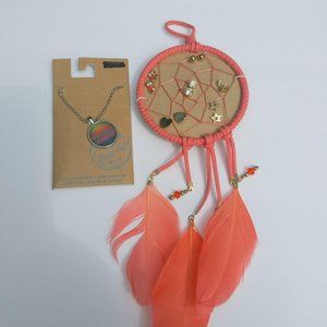 Other - Holla Necklace And Dream Catcher 6 Pair Earring Se